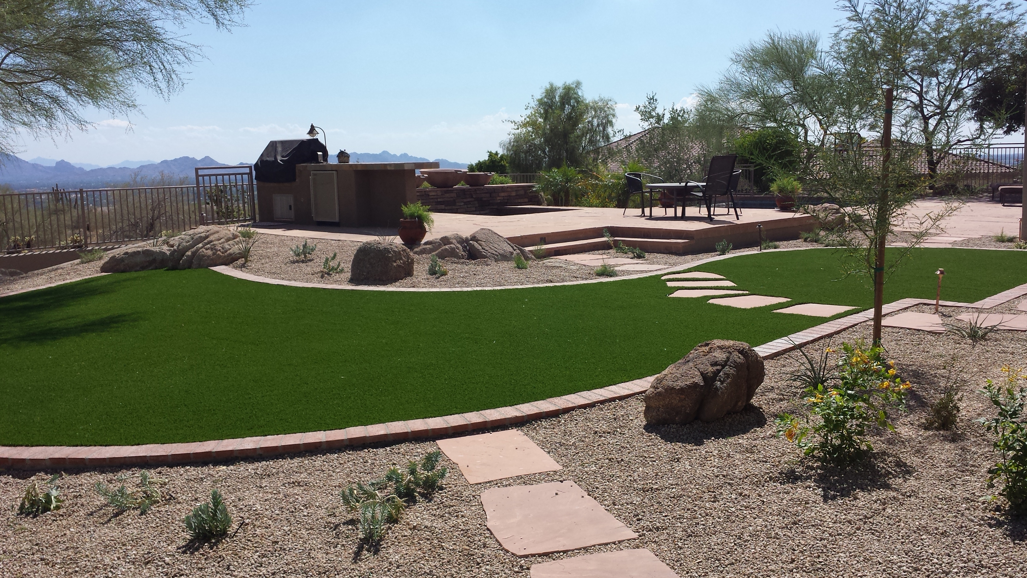 Desert Yard Landscape - Turf or Grass