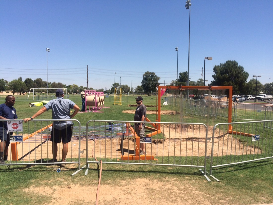 Scottsdale prepares Chaparral Park for Mighty Mud Mania 2015