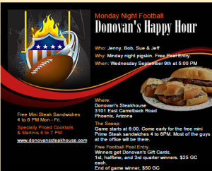 Donovan's Steakhouse Phoenix Martini Happy Hour